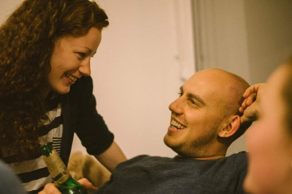 Julia Söhne mit ihrem Ehemann Benny, er ist Gesundheits- und Krankenpfleger in Freiburg
