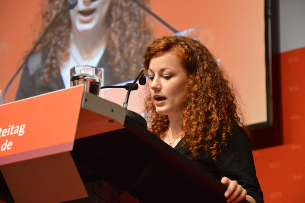 Julia Söhne auf dem SPD-Landesparteitag in Reutlingen 2013