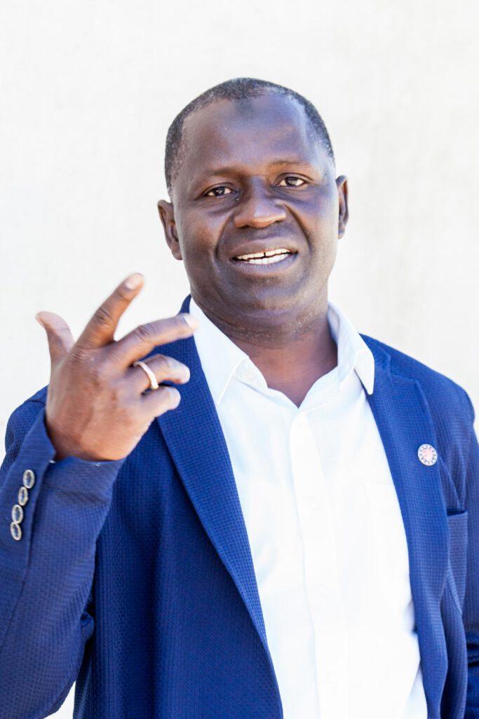 Mamadou Bah, Unterstützer der SPD-Bundestagskandidatin Julia Söhne für den Wahlkreis Freiburg & Region